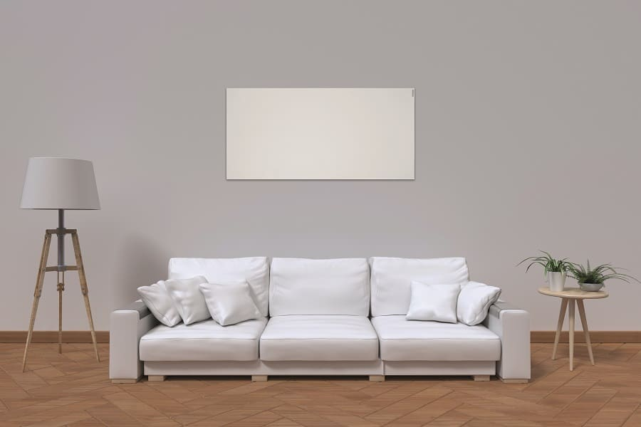 Herschel Select XLS White infrared panel heater